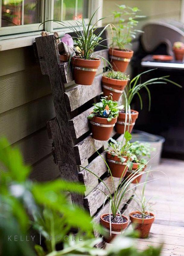 Maak een plantenbak van een pallet
