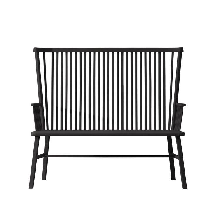 Greta pinnsoffa - svart