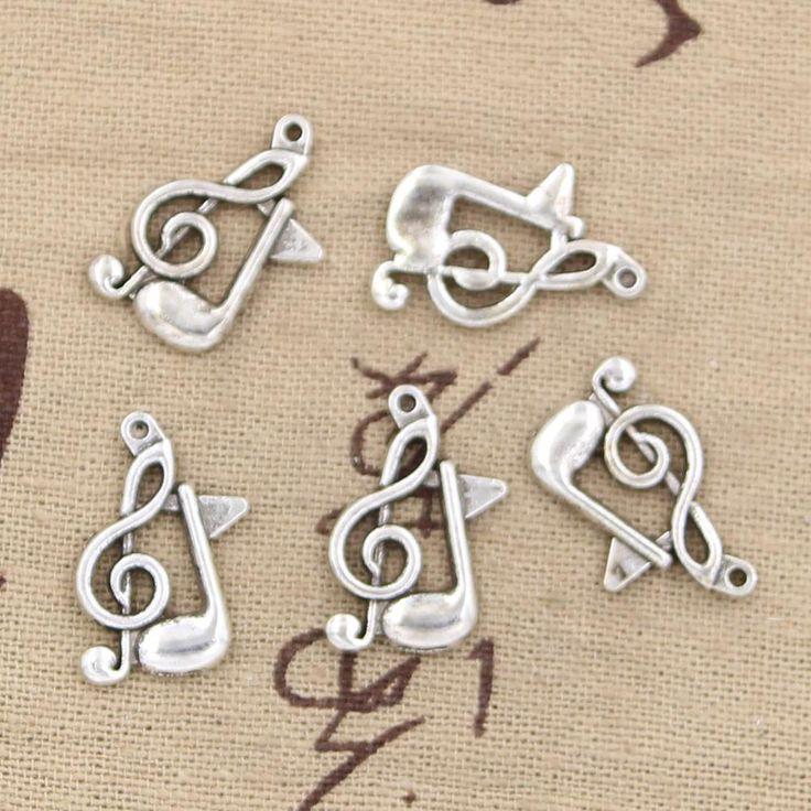 Cheap 30 pz charms nota musicale 21*13mm dell'oggetto d'antiquariato del pendente fit, vintage argento tibetano, fai da te per il braccialetto collana, Compro Qualità Charms direttamente da fornitori della Cina:          Welcom al       Lucy 23d negozio di gioielli      . 23d medio di 2 ~ 3 dollari. la maggior parte dei nost