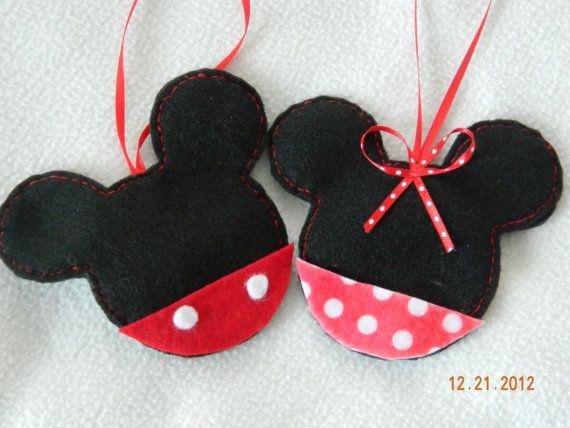 Felt mouse ornament, hand cut, hand sewn. Christmas tree ornaments, holidays, decoration, winter on Etsy, $5.50