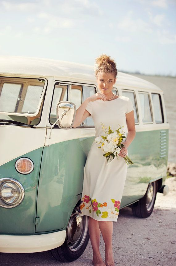 Short Vintage Beach Wedding Dress by ishkabibblesdesigns on Etsy