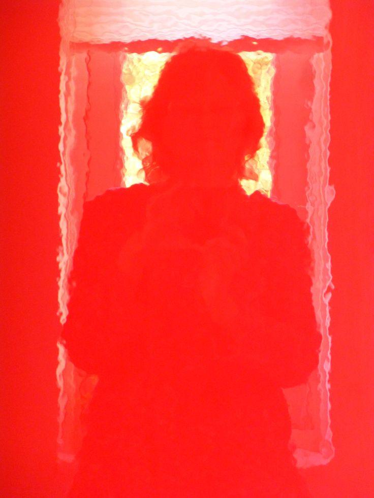 Dag 6 - rood - zelfportret in de rode Ikeakast in de keuken