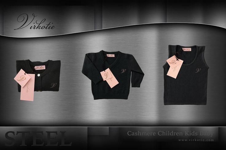 VirkotieSTEEL 100% Cashmere Children Kids Baby @VIRKOTIE www.virkotie.com