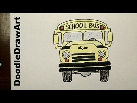 ▶ Drawing: How To Draw Cartoon School Bus Step by Step - YouTube