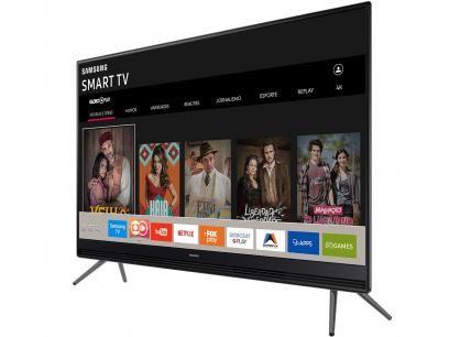 """Smart TV LED 49"""" Samsung Full HD 49K5300 - Conversor Digital 2 HDMI 1 USB Wi-Fi com as melhores condições você encontra no Magazine Chikshou. Confira!"""