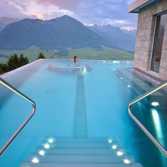 Stairway to heaven at Hotel Villa Honegg, a boutique hotel in Switzerland.   http://villa-honegg.ch/en/