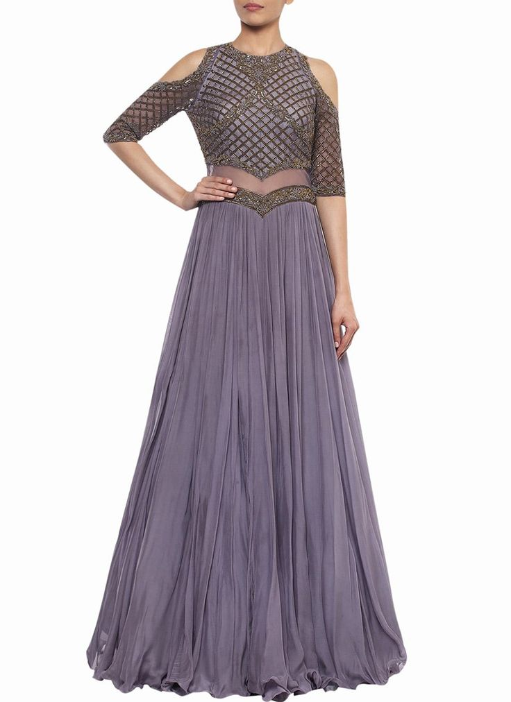 Buy Purple Georgette Net Skirt Set, indowestern-sets-and-suits Online Shopping, IWSDSS470