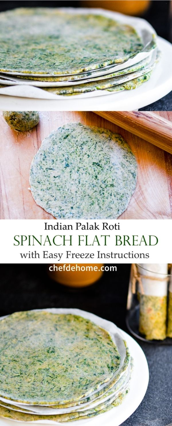 Freeze your own Indian Spinach Flat Bread for healthy and delicious dinner bread in no time | chefdehome.com