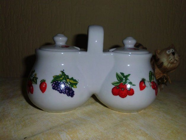 Vintage Doppelte Marmeladendose / Topf