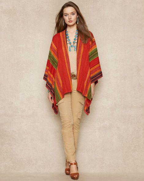 Serape Linen-Blend Wrap - Blue Label Cardigans & Sweater Coats - RalphLauren.com