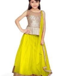 Buy Lemon Soft Net kids-lehenga-choli kids-lehenga-choli online
