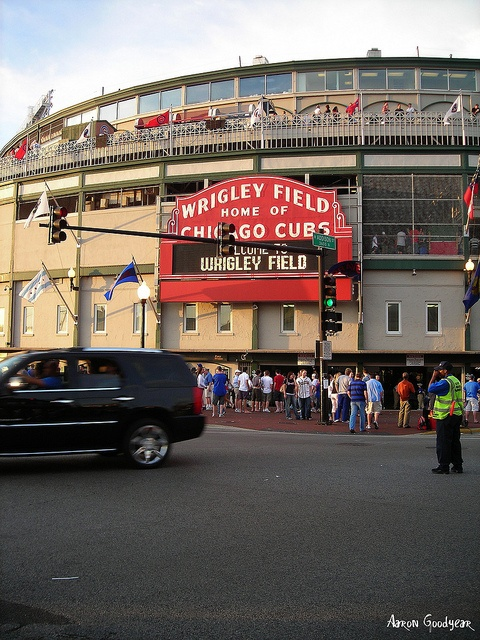 Wrigley Field.  You have to go to a Cubs Game, if you're in town.   Surrounding area has great places for drinks and food, too.