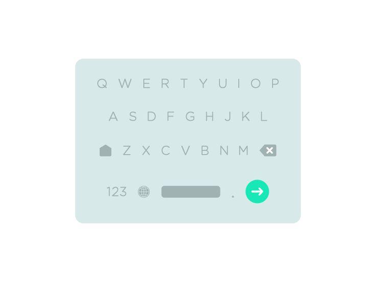 Simple, Material Design Inspired Mobile Keyboard | UI Design