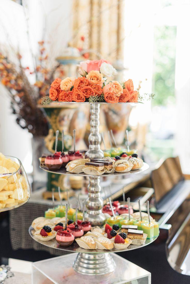 ideas for bridal shower brunch food%0A Tiffany  u     Ben u    s Lavish and Bright Engagement   Food ideas for wedding
