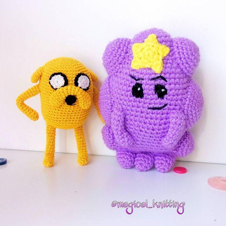 magical_knitting А вот #принцессапупырка вместе с Джейком из м/ф #времяприключений  #джейк #пес #принцесса #пупырка #adventuretime #toys  #мультфильм #вяжукрючком #игрушкикрючком #игрушки #вязаныеигрушки #креатив #ручнаяработа #игрушкиручнойработы #handmade #knitting #crochet #crocheting #instacrochet #модно #принимаюзаказы #игрушкиназаказ