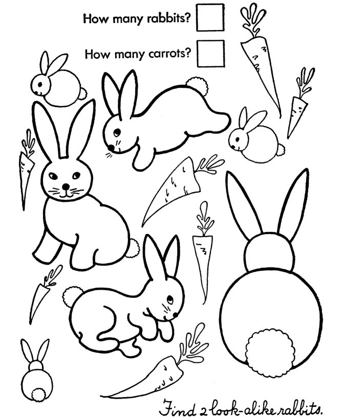 easter bunny coloring pages count the easter bunnies honkingdonkey easter activities for childrenbunny - Childrens Activity Pages