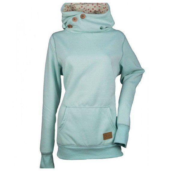 Women Pocket Hooded Long Sleeve Sweatshirt Hoodie Pullover Jumper Sweater Tops