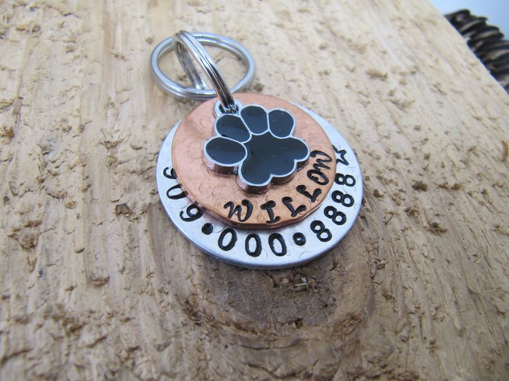 Pet ID tag,Large dog Pet tag,Personalized pet tags,Dog ID tag,Dog name tag,personalized pet ID tag, Medium Pet tag by InTheQuiet on Etsy