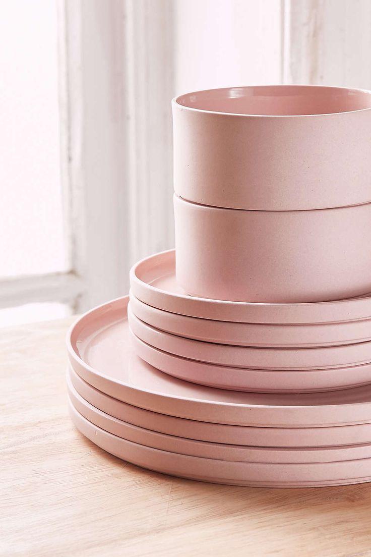 best  modern dinnerware ideas on pinterest  pink crockery set  - piece modern dinnerware set