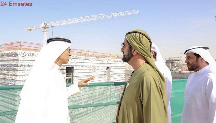 Sheikh Mohammed reviews progress of Dubai Creek Tower