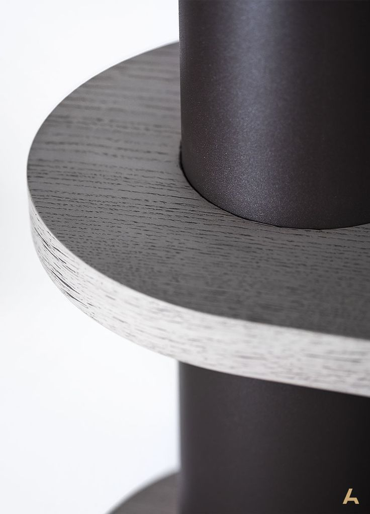 Detail of the wood & metal sequence, which characterises the Tekka Bookcase | Design by G. Bosnas