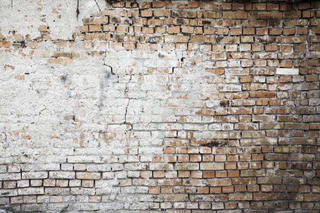 Tapet slitt murstein