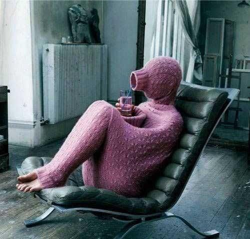 Hand-Knitted Introvert Suit.: Winter, Full Body, Cold Day, Funny, Socks, Things, Body Sweaters, Wtf, Knits Projects