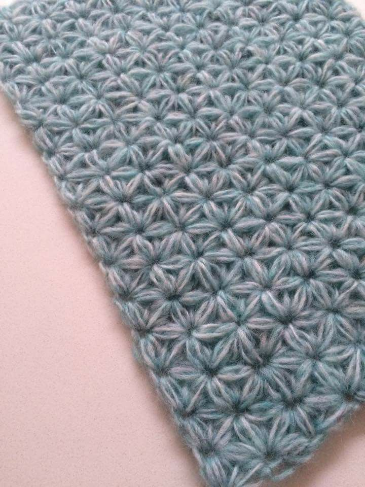 Jasmine stitch (duff link) - how to do Jasmine stitch, free pattern at Ravelry: http://www.ravelry.com/patterns/library/jasmine-stitch-no-3--6-petals-with-puffs-in-rows