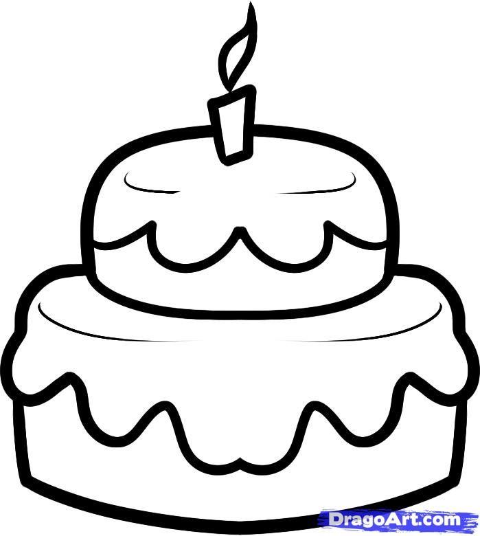 раскраска праздничный торт распечатать для