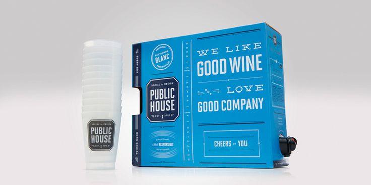 Public House Wine — The Dieline - Branding & Packaging Design