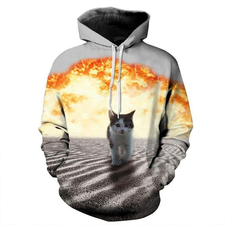 Cat Fire 3D Hoodie – WeLoveCats