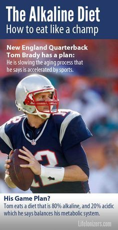 Tom Brady keeps his body in top condition with exercise and an alkaline diet. #alkalinediet #alkalinewater #lifeionizers