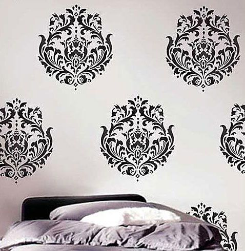 Damask Wall Art 43 best stencils images on pinterest | wall stenciling, damask
