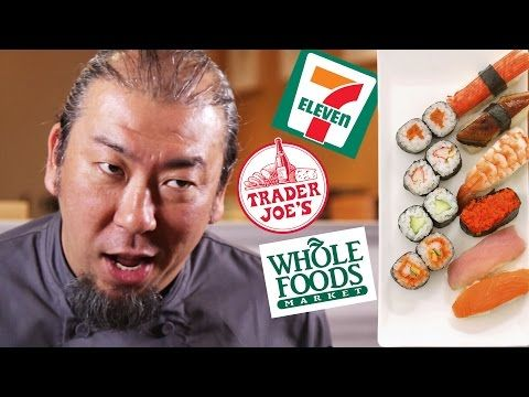 Watch A Professional Sushi Chef Sample Sushi From 7-Eleven and TJ's | First We Feast