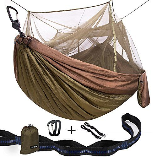 Great Camping Hammock : Double Camping Hammock With Mosquito Net 10ft Hammock Tree Straps  12KN Carabiners  Easy Assembly Lightweight Portable  Durable  For Camping Garden Backpacking Survival Travel  MoreDouble Camping Hammock With Mosquito Net 10ft Hammock Tree Straps  12KN Carabiners  Easy Assembly Lightweight Portable  Durable  For Camping Garden Backpacking Survival Travel  More ** Read more reviews of the product by visiting the link on the image. Note:It is Affiliate Link to Amazon.