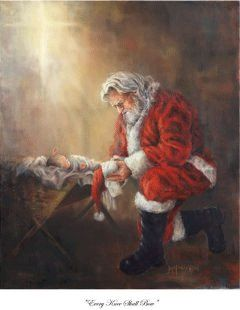 One of my favorite Christmas pictures! Even Santa knows who Christmas is really all about.