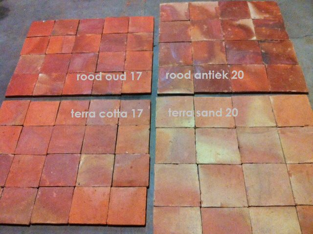 Hoeve boeren plavuizen estrikken terracotta tegels en