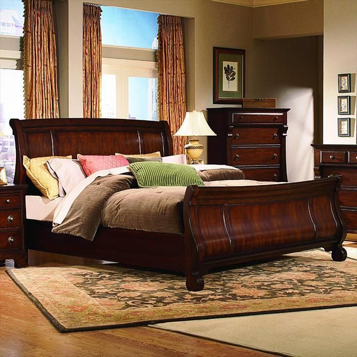 Kathy Ireland Home King Sleigh Bed