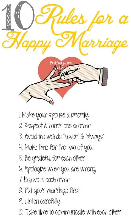 10 Rules for a Happy Marriage - #marriage #tips