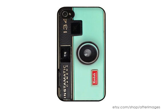 Camera iPhone Case / Mint Green iPhone 4 Case iPhone 5 Case iPhone 4S Case iPhone 5S Case Kodak Instamatic Spring Silicone Case on Etsy, $17.99