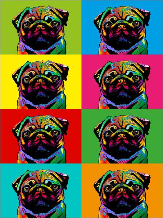 Details about Pug Dog Pop Art Print Poster - s117