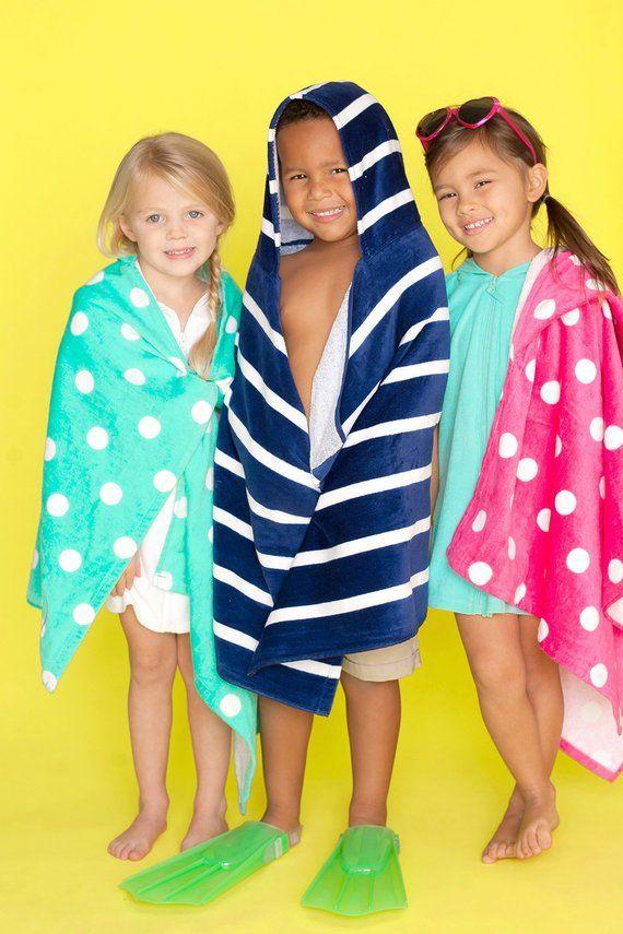Personalized Towel Monogram Beach Towel Custom Hooded Towel