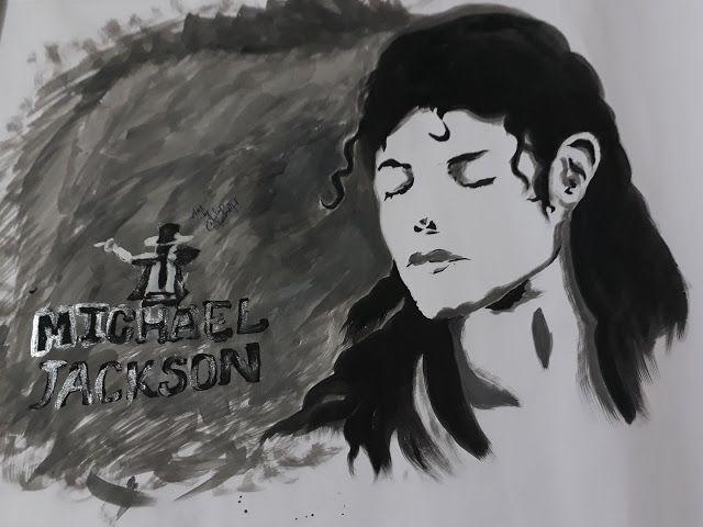 mema: my 8th painting.....michael jackson  MJ