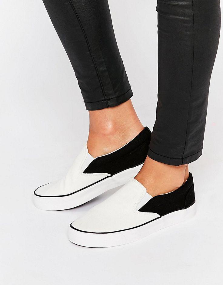New Look Monochrome Plimsole Sneakers