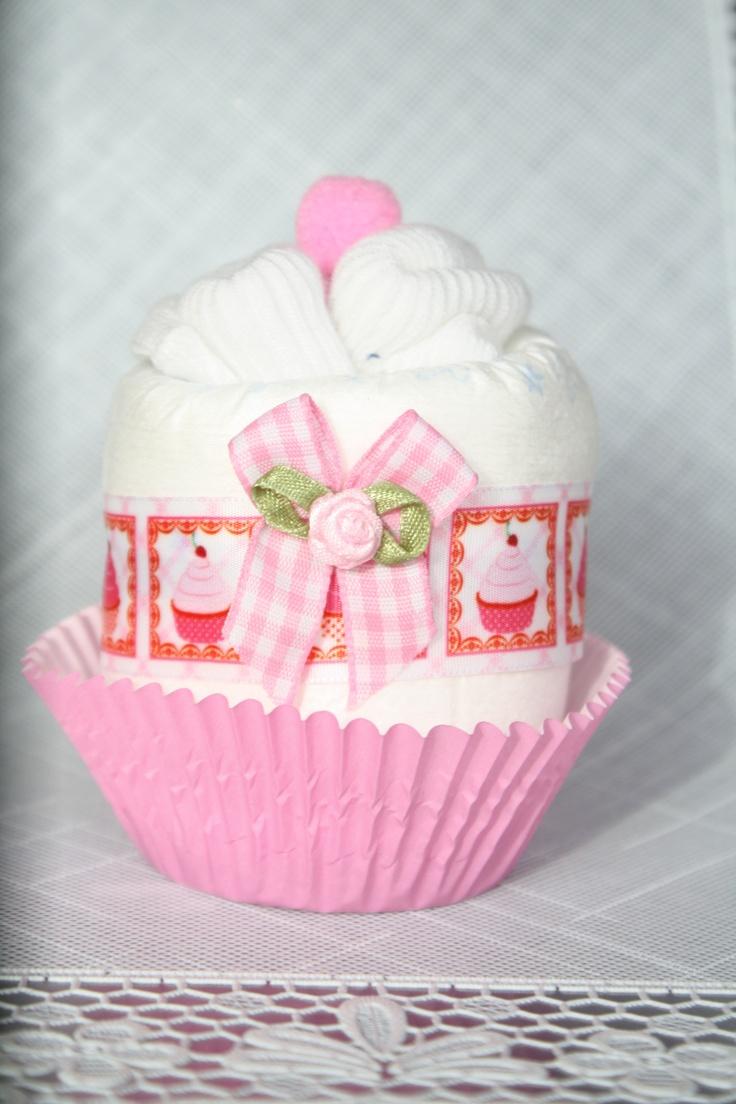 Cupcake (luier/sokjes)