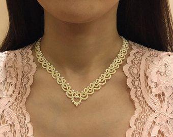 Tatting lace bracelet pdf pattern Victorian Romance by TheKimAndI
