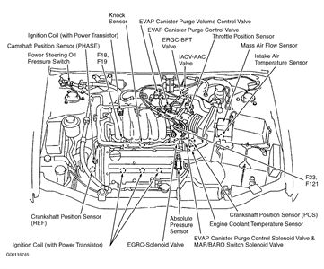 map sensor location nissan maxima