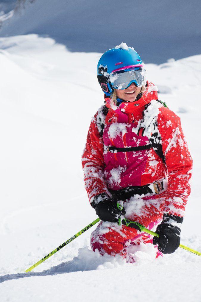 Sandra Lahnsteiner in Peak Performance Heli Chilkat Jacket and Pants