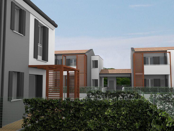 Prossima #costruzione complesso #residenziale a #Cavallino Treporti - Via Livenza (VE), di fronte alla #BatteriaPisani: scorcio giardino privato villetta su due piani.