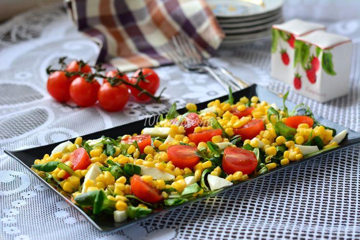 Салат с рукколой  и моцареллой: рецепт с пошаговым фото